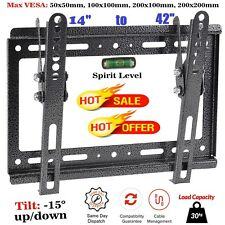 TV Wall Bracket Mount Tilt For 14 20 25 30 32 38 40 42 Inches 3D Plasma LCD LED