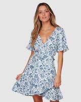 BNWT TIGERLILY LADIES CAMALI WRAP DRESS (BLUE) SIZE 8 RRP $179.99 LAST ONE