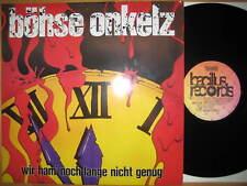 """ERSTPRESSUNG 12"""" Vinyl LP Wir Ham' Noch Lange Nicht Genug - Böhse Onkelz OI Punk"""