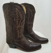 OLD WEST WOMEN'S DISTRESSED LEATHER COWBOY BOOTS #LF1534 BROWN SZ 8 B NEW $128