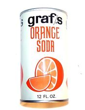 Graf's Milwaukee Orange Soda Pull Tab Soda Pop Top Can A1+ Flat Beer Sign MkOfr