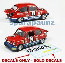 Decals Fiat Abarth 1000TC 1/43 - #3 Zwolsman - Silverstone 1969 – RADIO VERONICA