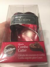 "Wilton hearts combo cutter Wedding Cookies 3.75""x 2.5"" Double Heart Brownies Val"