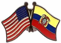 USA American Ecuador Friendship Flag Bike Motorcycle Hat Cap lapel Pin