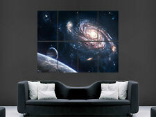 Earth Space Poster étoiles planètes Galaxy Voie Lactée Univers Art Mural Large Géant