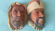 VINTAGE Pair of Bosson's Heads (Syrian & Himalayan ) - IN GOOD CONDITION