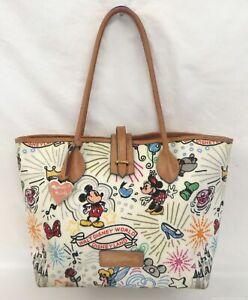 Dooney & Bourke Multi Color Print Disney Tote Purse