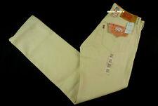 $100 Mens LEVIS Classic 501 SHRINK TO FIT 31 x 31 Cream White RIGID Oak Cone