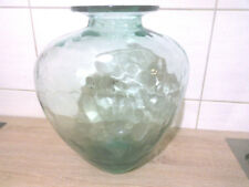 schöne dekorative alte Glasvase Bodenvase 36 cm hoch dickes Glas 30/40- er Jahre