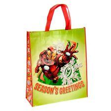Giant Reusable Shopper Shopping Christmas Gift Bag - Season Greetings Iron Man