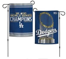 LA Dodgers 2020 World Series Champions Double Sided Garden Flag 12.5x18