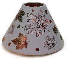 New Yankee Candle Fall Oak Maple Leaf Frosted Large Jar Shade