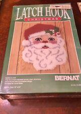 New listing Latch Hook Christmas Santa Claus Kit 18 X 24 Bernat Vintage 1991