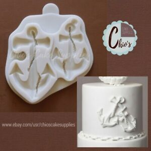 Anchor Silicone Mold, 2 cavities, 2 sizes