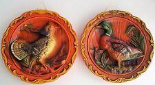 Vintage Ceramic Wall Hanging Mallard Duck Quail Japan Hunting Cabin Decor
