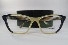 c179b94af2fc5 Novo Autêntico Prada VPR 04T VYP-1O1 Amarelo Azul Cinza Óculos 54mm Com