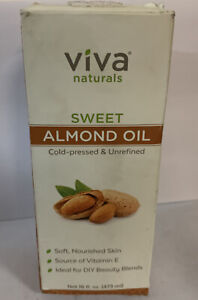Viva Naturals Sweet Almond Oil 16 fl oz, 100% Pure and Hexane Free, Ideal for