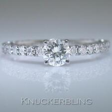 Diamond Round Ring 0.50ct Certified E IF Brilliant in 18ct White Gold