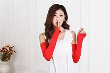 20 Candy Multifunctional Cosy Sunscreen Women Long Fingerless Gloves Arm