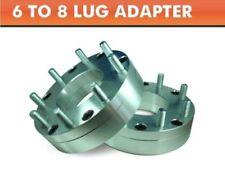 2 Wheel Adapters 6x5.5 to 8x6.5 | Chevy GMC 8 Lug Wheels On Toyota 6 Lug Pickup