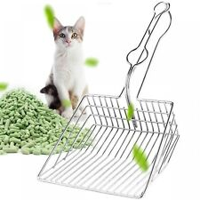 2019 New Portable Pet Cat Stainless Steel Litter Scoop All Durable Metal Hollow