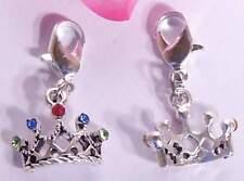 ♥ Charm Diadem Krone mit Swarovski Kristallen silber für Armband ♥ AH301