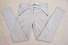 NEW Abercrombie Womens Khaki Military Jeans Size 2 Jeggings Shine Embellishments