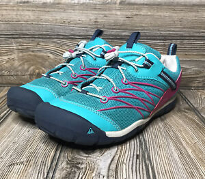 Keen CNX Trail Size 6 Hiking Walking Shoes Teal Pink Black Turquoise Women's EUC