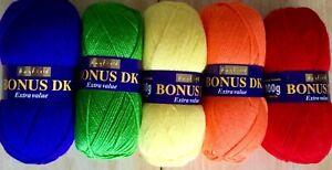 Sirdar Hayfield Bonus dk double knit wool yarn 5 x 100g multipack - Starburst