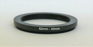 One Brand New 52mm to 43mm  52-43mm Metal Step-down Stepping Ring Filter Adapter