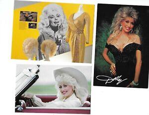 Lot 3 dif Vintage Dolly Parton Postcards