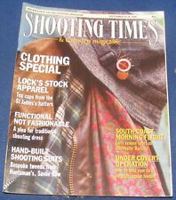 SHOOTING TIMES MAGAZINE SEPTEMBER 14-20 1989 - CLOTHING SPECIAL