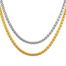 Zopfkette 750er Gold 18 Karat vergoldet Gelbgold Silber Damen Herren K3085L