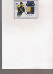 2019/20 UPPER DECK CHRONOLOGY PATRICE BERGERON 1 IN 100 3 COLOR PATCH #d/100