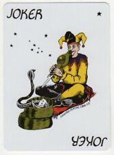 Single Joker Playing Card - Snake Charming Jester (C)