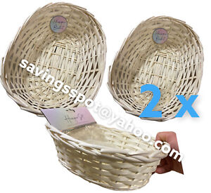 2 X valentine day Christmas Easter Hamper Basket  Make Your Own Craft Gift Box