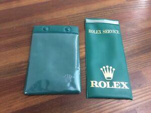 Rolex Vintage Plastic Service Pouch + Rare Rolex Plastic Pouch + free post