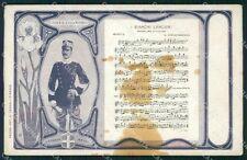 Militari V Reggimento Lancieri di Novara Marcia Spartito Savoia cartolina XF2062