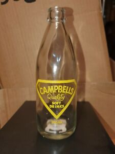 Ceramic Label,Pyro Crown Seal Soft Drink Glass Bottle  CHARLEVILLE QLD Rare
