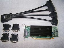 Matrox M9140 Quad Monitor 512MB PCIe x16 Graphics Card + Quad Cable + Adapters