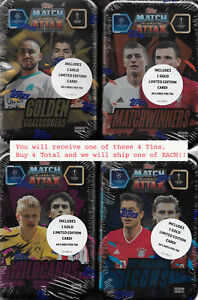 2020 2021 Topps Champions League Match Attax Collector Tins GOLD EXCLUSIVE Cards