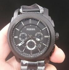 New Old Stock FOSSIL Machine FS4552 Chronograph Date Stainless Steel Quartz Men