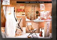 Vogue 2084 Home Decor CHAIR COVERS 6 Styles MARGOT HOTCHKISS Sewing Pattern