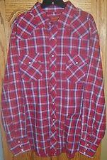 RUSTLER Mens XXL Western Cowboy Shirt X-Long Tails Pearl Snaps Rodeo Retro