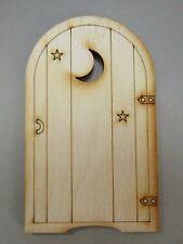 Wooden Fairy Door – Moon & Stars Fairy Door Craft Shape. Designed/Made in the UK