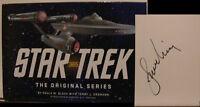 Star Trek L. Nimoy signiert Karte Original Unterschrift Signatur Autogramm
