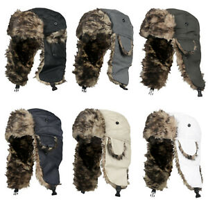 Mens Shower Proof Trapper Hat Winter Outdoor Thermal Warm Russian Ski Hike Hat