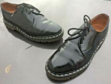 Vintage  Dr Martens 1461 black leather shoes UK 8 EU 42 Made in England.