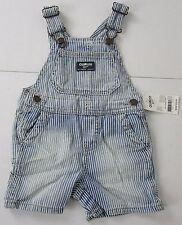 Oshkosh Denim Shortalls Size 24 Months NWT Retail $32