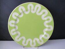 """PRESENT TENSE FINGERPAINT GREEN DINNER PLATE 11"""" -1305I"""